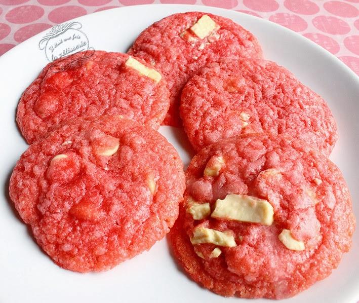cookies à la cerise et au chocolat blanc