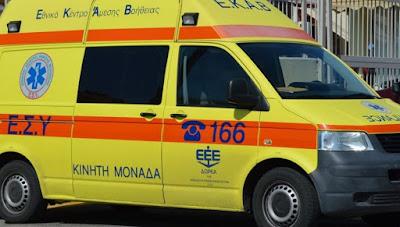 Τροχαίο ατύχημα με ελαφρύ τραυματισμό