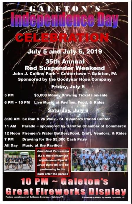 7-5/6 Galleton Indepence Day Celebration