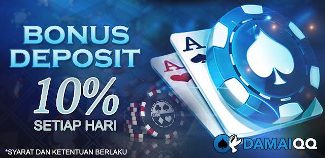 Damaiqq Agen Poker dan Domino 99 Kasih Bonus Deposit