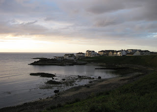 Shoreline at dusk, Portballintrae, Northern Ireland