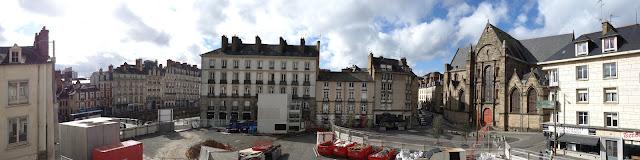 Le panoramique de la Place Saint-Germain en ce mois de février... Photo Erwan Corre