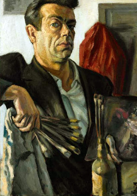 Josep Bover Bennàssar, Self Portrait, Portraits of Painters, Fine arts, Josep Bover, Portraits of painters blog, Paintings of Josep Bover Bennàssar, Painter Josep Bover Bennàssar