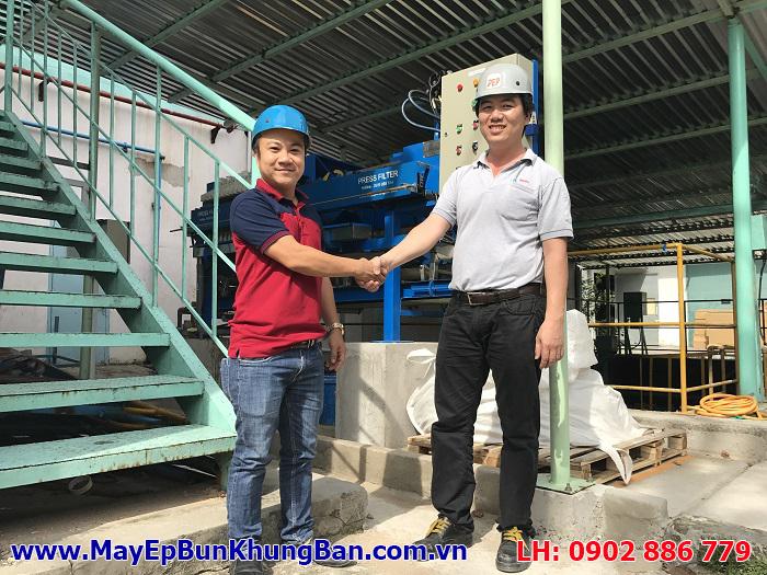 Vĩnh Phát phục vụ chuyên nghiệp, giúp khách hàng luôn hài lòng khi mua máy ép bùn khung bản Việt Nam