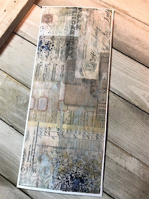 Sara Emily Barker https://sarascloset1.blogspot.com/2019/05/for-love-of-birds-vintage-card-for.html For the Love of Birds Vintage Card Tim Holtz  Ideaology Collage Paper Ranger Distress Oxide Spray