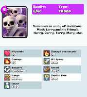 clash royale game skeleton army card strategy