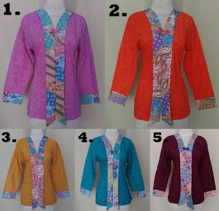Desain Baju Batik Embos Lengan Panjang