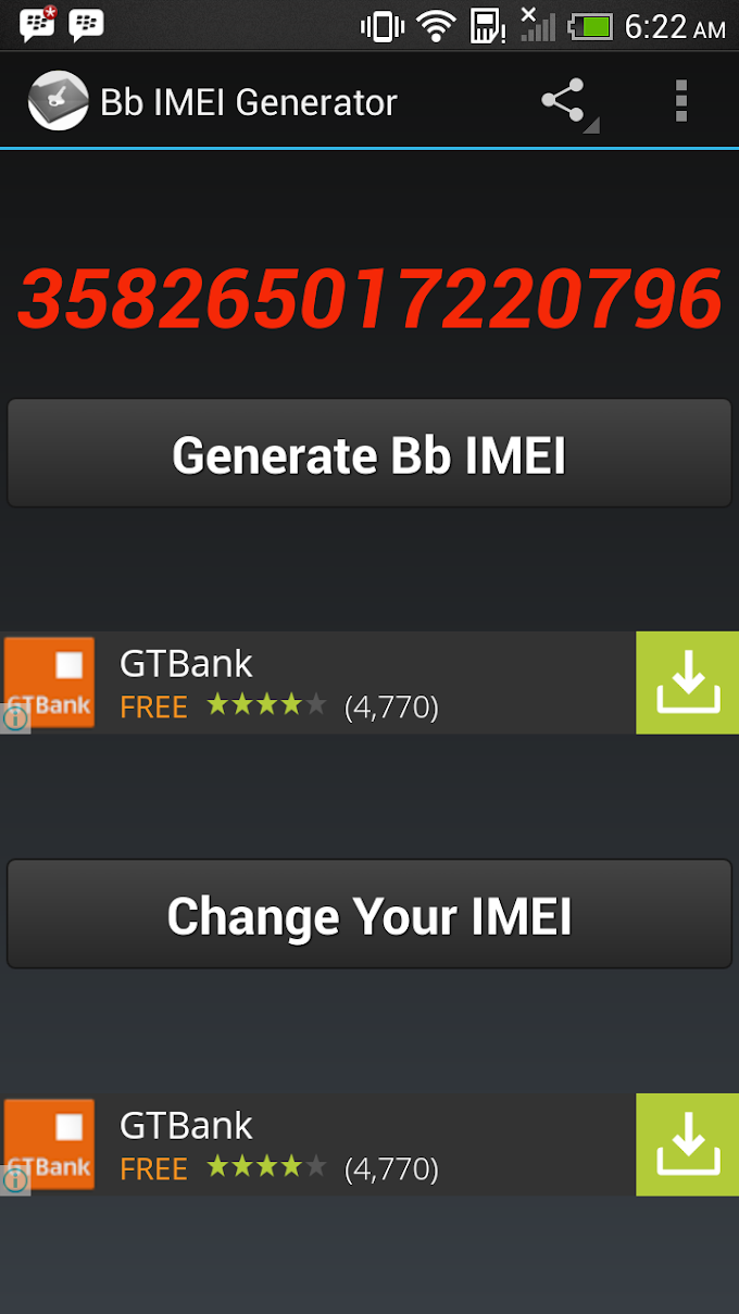 Generate BlackBerry IMEI Using your Android Device: How-to