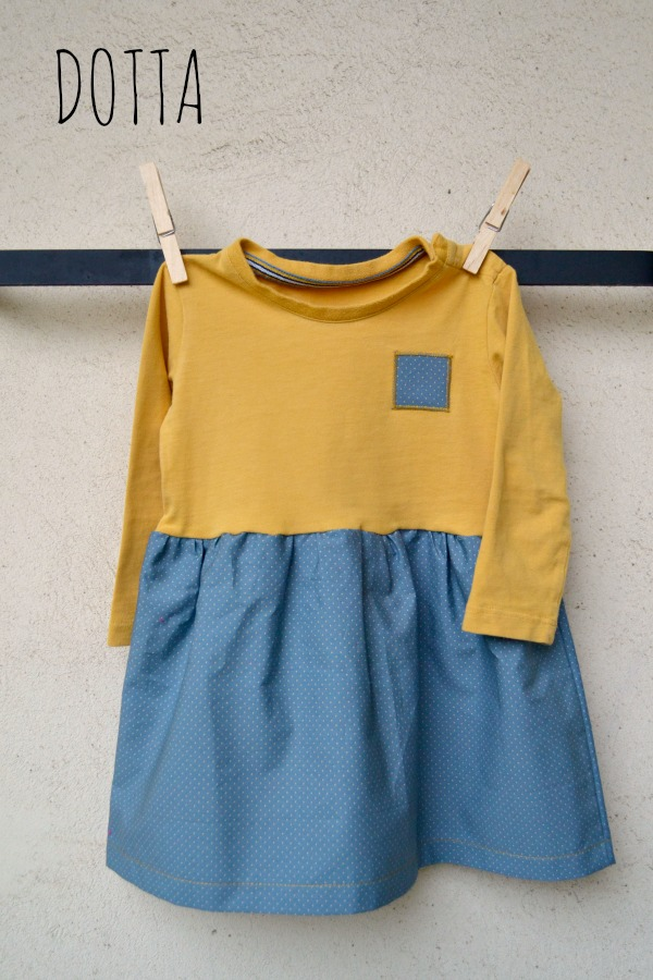 Mustard dress by Dotta dottasews.blogspot.com