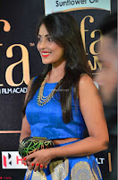 Madhu Shalini Looks Super Cute Slim trim Blue Choli Ghagra IIFA Utsavam Awards 27.JPG