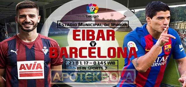Prediksi Pertandingan Eibar vs Barcelona 23 Januari 2017