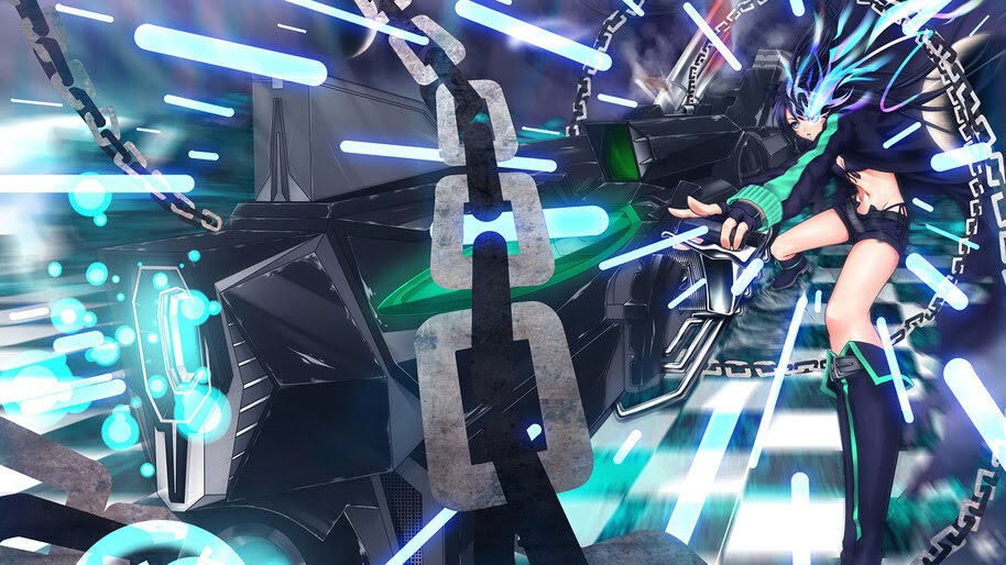 Anime, Girl, Fantasy, Cannon, Black Rock Shooter, 4K, #254