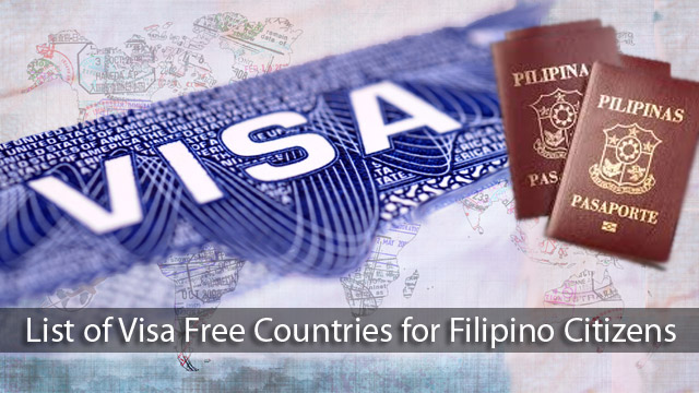 List of Visa Free Countries for Filipino Citizens