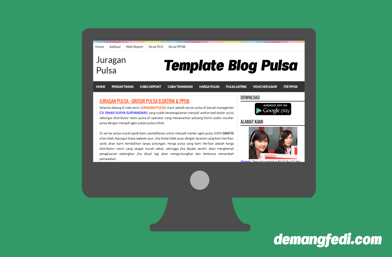 Template Blog Agen dan Server Pulsa