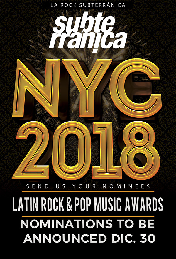 Subterranica-Latin-American-rock-pop-music-awards-NY-2018-nominados