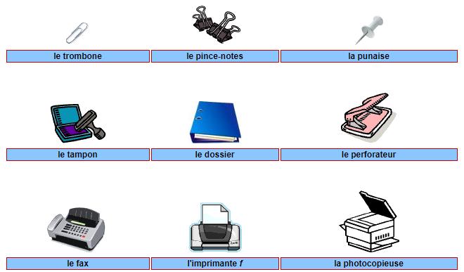 apprendre le vocabulaire fran ais illustr du bureau lettres et langue fran aise. Black Bedroom Furniture Sets. Home Design Ideas
