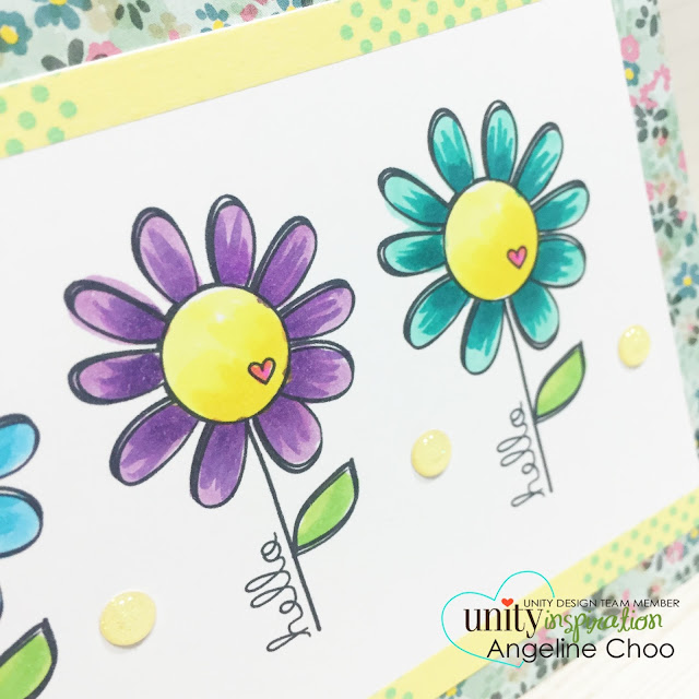 ScrappyScrappy: Unity Stamp BIG Blog Hop [NEW VIDEOS] - Copic flowers #scrappyscrappy #unitystampco #stamp #card #flowers #copic #quicktipvideo #youtube