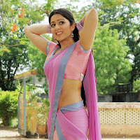 Cute charmi in half saree