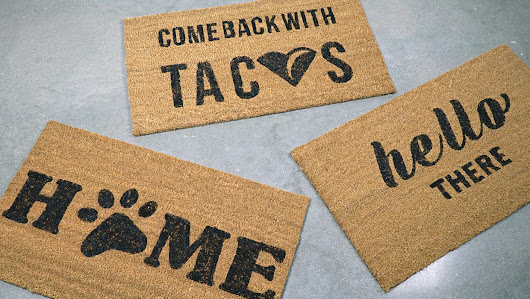 DIY Your Own Doormat With These 11 Free Printables