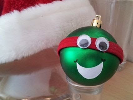 teenage mutant ninja turtle Christmas ornament craft, Christmas crafts, kids crafts, Christmas ornaments, Raphael