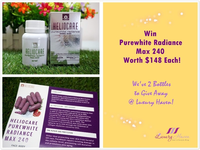 whitening supplements heliocare purewhite radiance max 240 giveaway