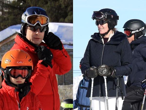 Hrabia i hrabina Wessex z dziećmi na nartach + więcej.