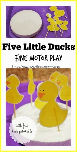 Five Little Ducks nursery rhyme activity