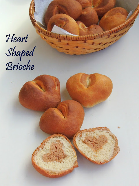 Heart shaped brioche, Marble heart shaped brioche