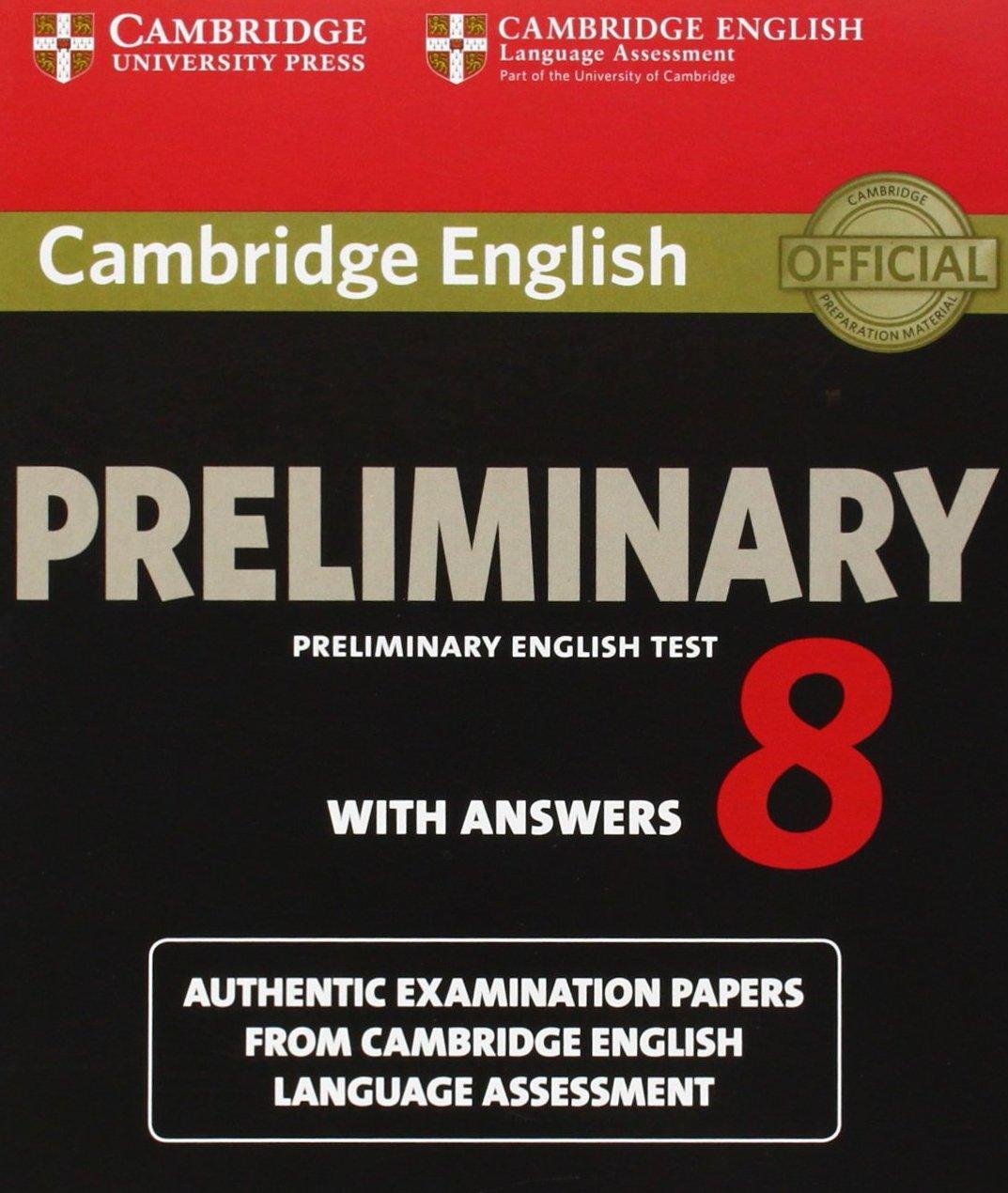 Free Cambridge Preliminary English Test 8 Pet 8 Ebook Audio