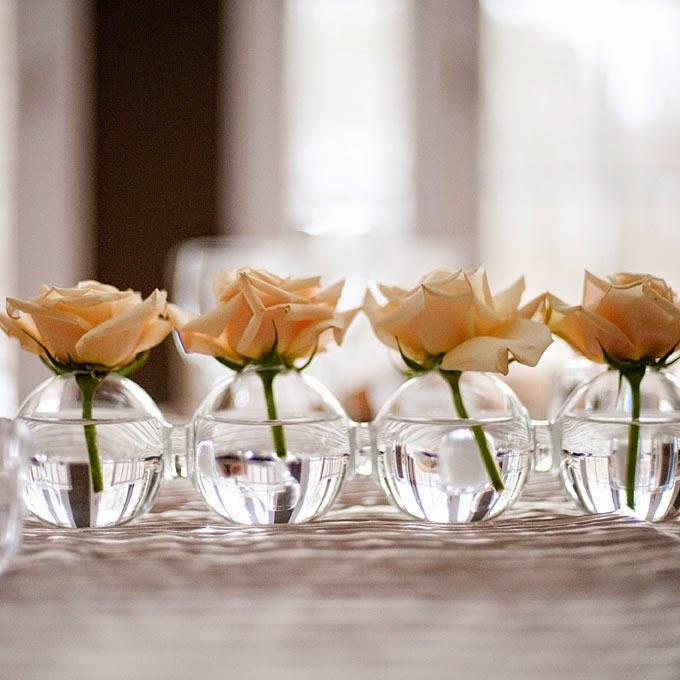 Bellos centros de mesas boda con colores somos novias - Centros navidenos de mesa ...