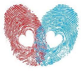 deux-empreintes-coeur-bleu-rouge
