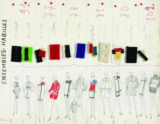 Yves Saint Laurent ijego szkice (2017)