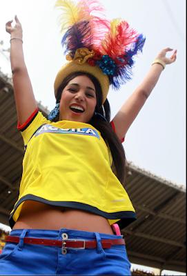 sexy colombiana ve el partido Colombia vs. Ecuador eliminatorias Rusia 2018