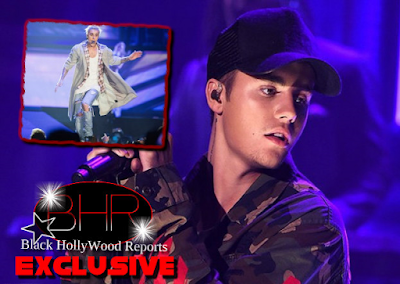 Singer Justin Bieber Falls Through A Stage Hole While Performing In Canada