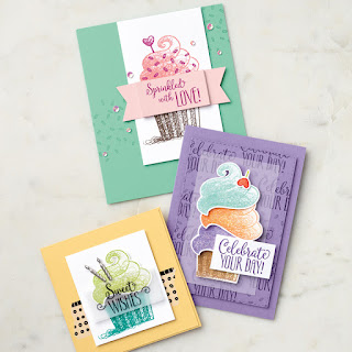 Stampin' Up! Hello Cupcake Cards ~ 2019 Sale-a-Bration ~ www.juliedavison.com