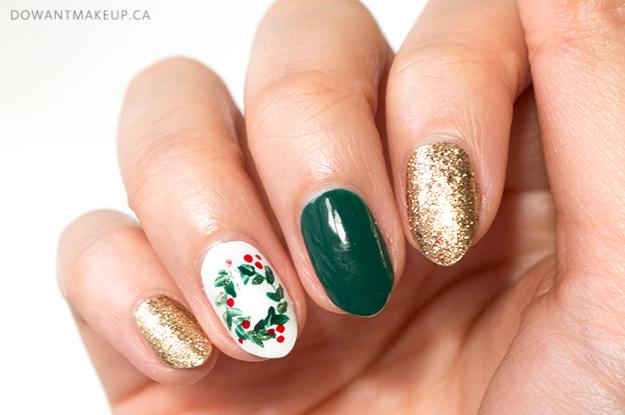 Holiday nail art 2018