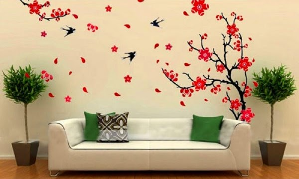An easy and affordable way to decorate a big blank wall - How to decorate a blank wall ...