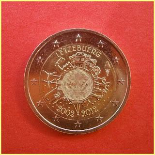 Luxemburgo 2012 10 años Euro
