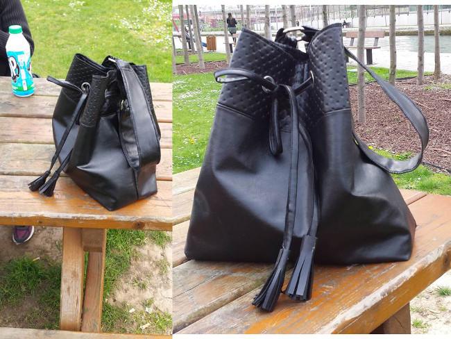 Coudre du simili cuir mod le de sac bourse bettinael passion couture made in france - Coudre le cuir ...