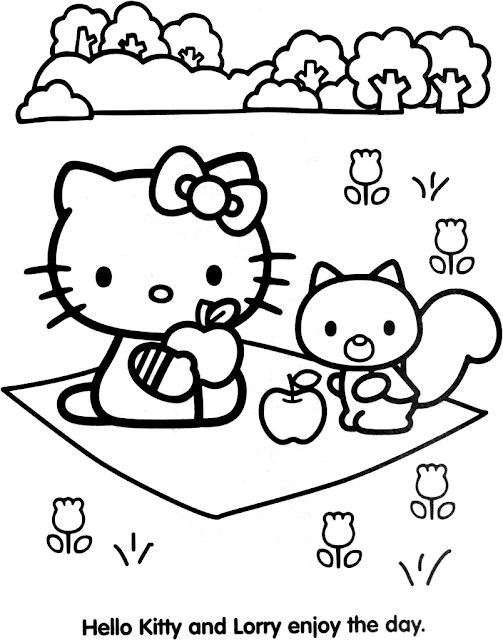 Coloriages a Imprimer : Imprimer gratuitement coloriage hello kitty