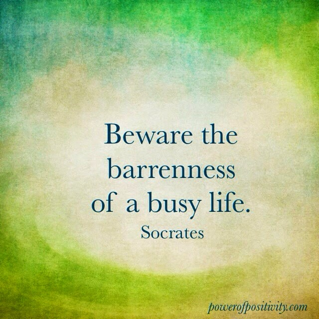 MOTIVATION 15 Best Socrates Picture Quotes - Beware the barrenness of a busy life. - Socrates
