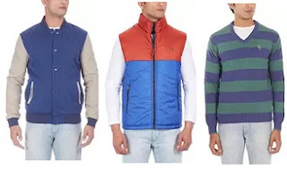 Flat 75% Off on Men's Winter Wear starts from Rs.374@ Amazon