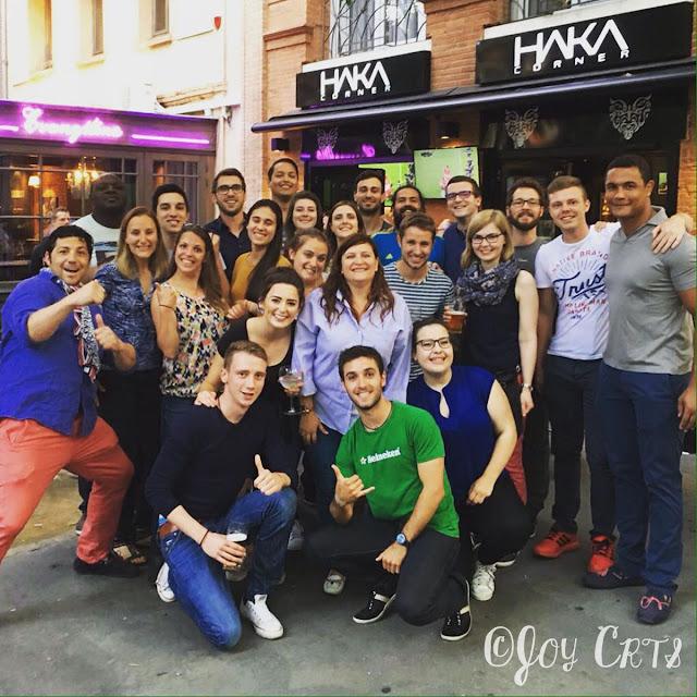 Les volontaires de Toulouse au Haka Corner, EURO 2016