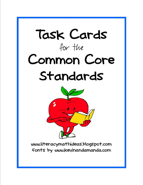 Simply Centers Common Core Standards Task Cards