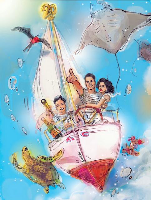 Haute-illustration-BenLiu-SoryaGaulin-mariage-anniversary-sailing