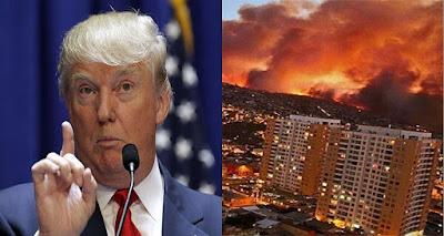 ترامب يفاجيء العالم و يصدم إسرائيل بكلام لا يصدق عن حرائقها المرعبة