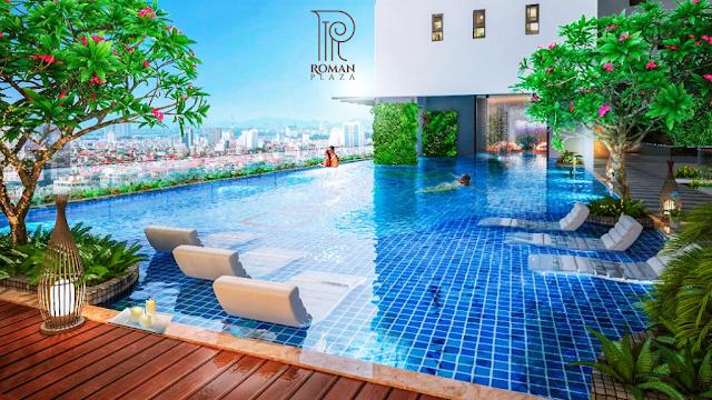 Bể bơi chung cư Roman Plaza Hà Đông