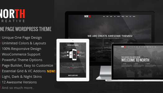 Nulled North – One Page Parallax WordPress Theme