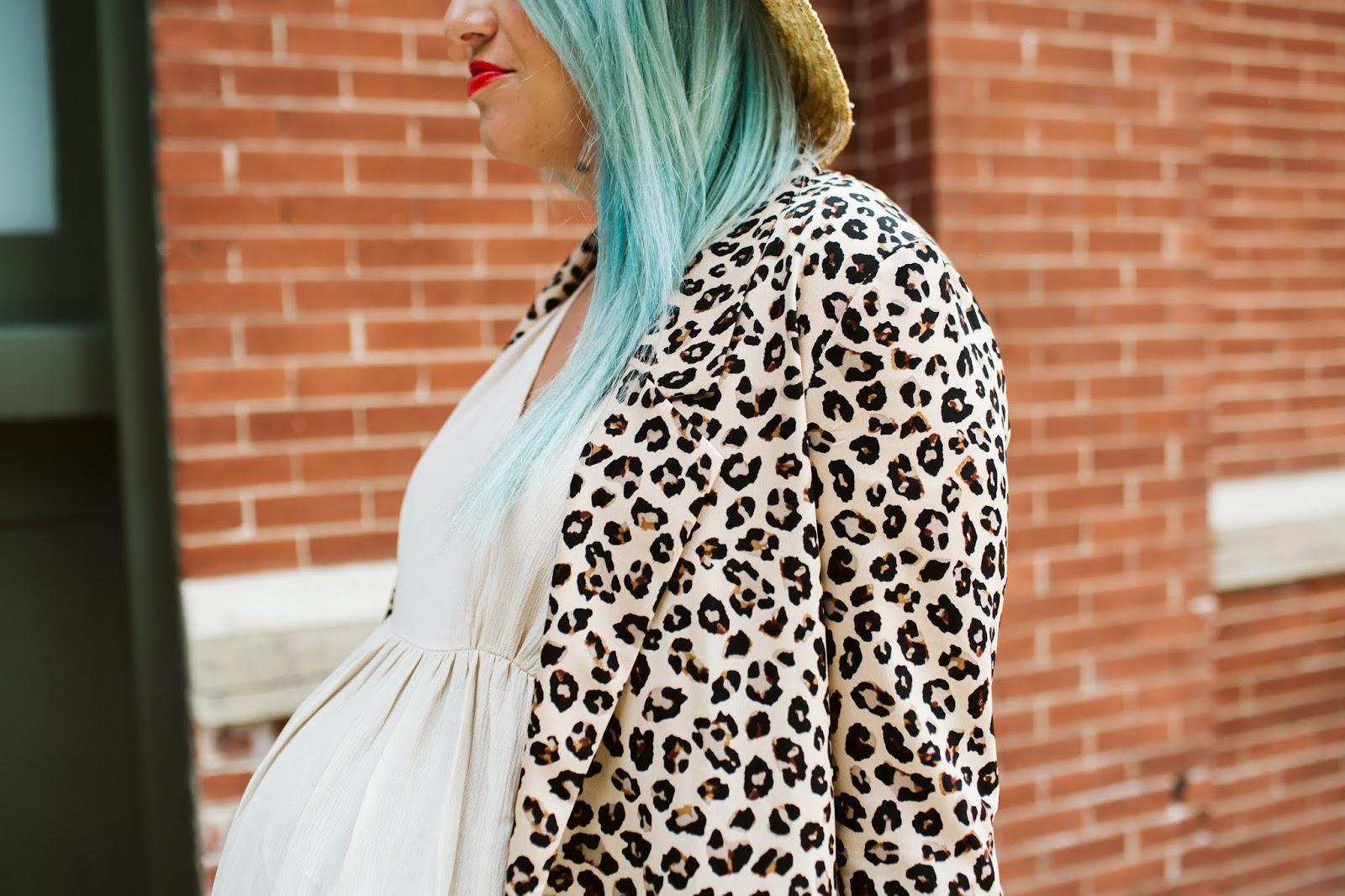 Leopard Print, Leopard Blazer, Pregnant Fashion
