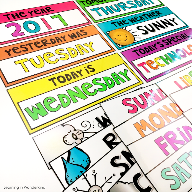 The perfect calendar for the primary classroom!